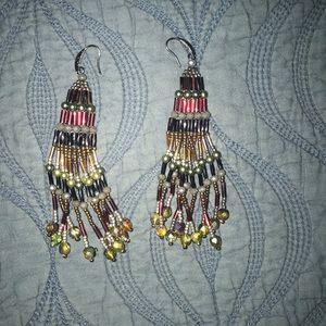 Handmade Native American Patterned Earrings